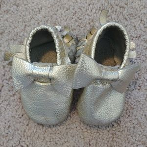 Other - Gold baby moccasins